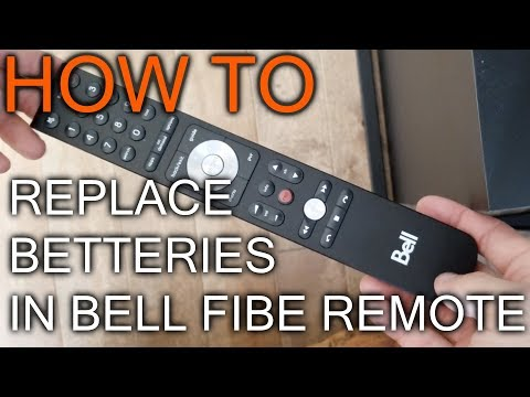 How to Replace Battery in Bell Fibe TV Remote