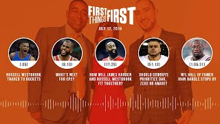 First Things First audio podcast (7.12.19)Cris Carter, Nick Wright, Jenna Wolfe | FIRST THINGS FIRST