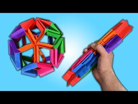 Origami Flexiball. (Instructions) (Full HD)