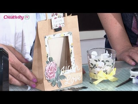 Making a Decoupage Floral Gift Bag | docrafts Creativity TV