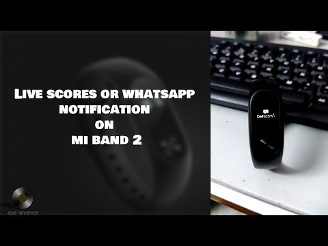How to see Live Cricket Score And WhatsApp messages on Mi band 2/Hrx Edition