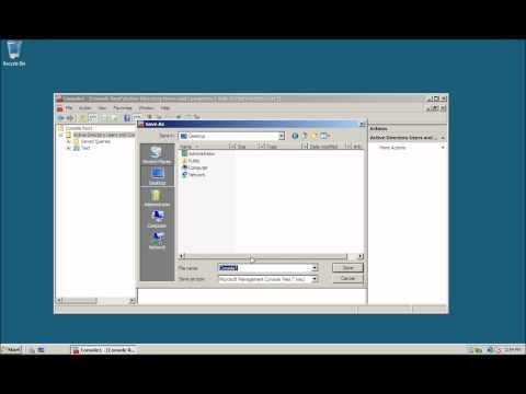 Como crear una Consola de Administracion personalizada MMC