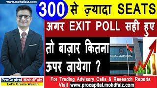 300 से ज़्यादा Seats  अगर EXIT POLL सही हुए तो बाज़ार कितना ऊपर जायेगा   Latest Share Market News