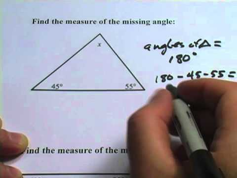 Sum of the Angle Measures of Triangles & Quadrilaterals