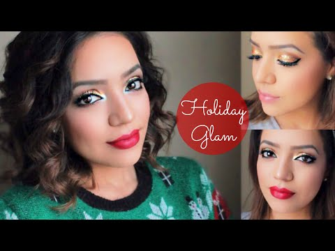 2 GLAM Holiday Party Looks Day to Night | Drugstore Makeup Tutorial