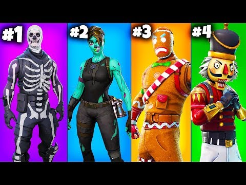 TOP 5 RAREST SKINS of ALL TIME RANKED!! (Fortnite Battle Royale)