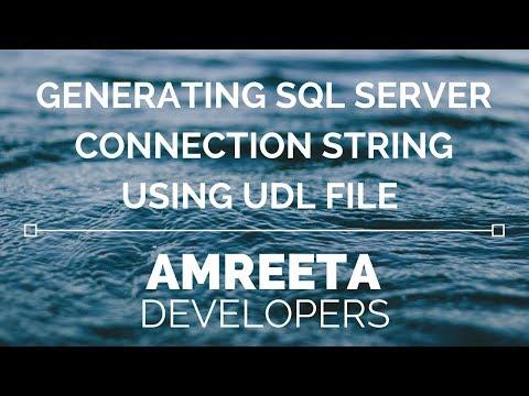 Generating SQL Server Connection String using UDL File