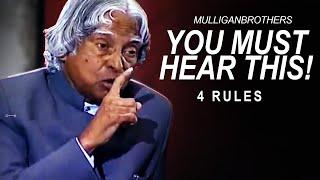The Most Inspiring Speech: 4 True Rules To Success   A. P. J. Abdul Kalam