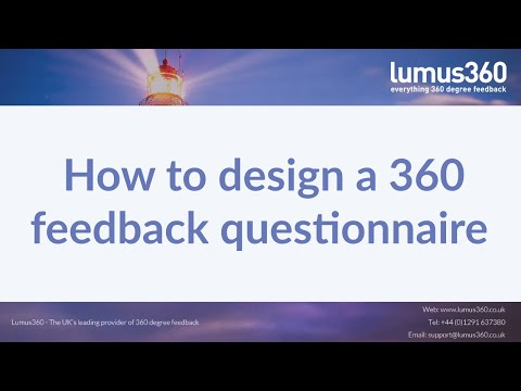 Lumus360 - How to Design a 360 Feedback Questionnaire