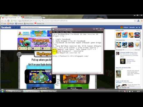 How To Get Facebook ID and Session ID In Dragon City