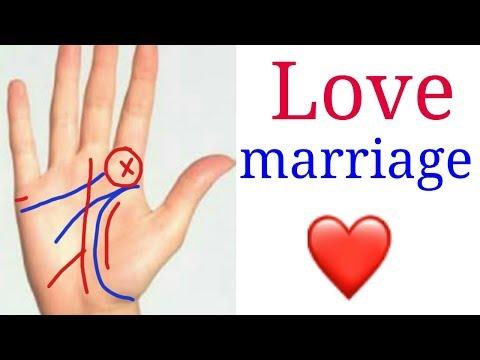 Love marriage line in hand. प्रेम विवाह!