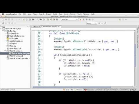 Building Mac apps in C# with Xamarin Mac | Xamarin Studio