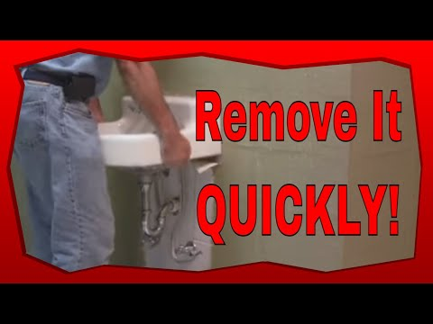 How To Remove A Wall Mounted Sink
