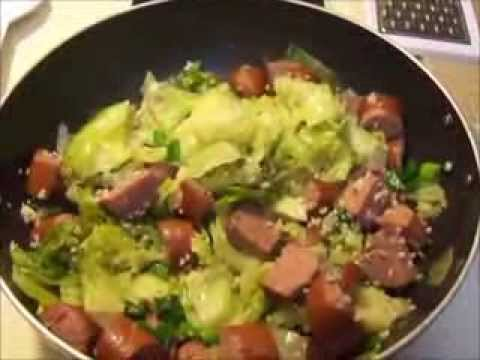 cabbage and sausage meal