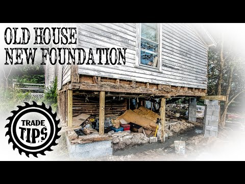 How to Jack Up A House and Build a House Foundation Under an Existing Home - Trade Tips