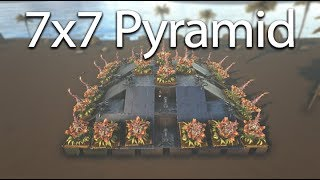 Ark   UNRAIDABLE 7x7 Pyramid Base Design [Tutorial]