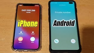 iOS 13 iPhone Vs Android 9 Galaxy S10+ Answer and Reject Call