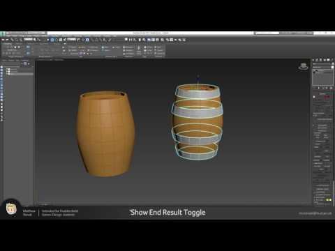 Wooden Barrel Tutorial - Part 1 - Modelling