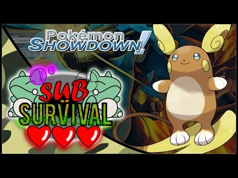 Rain Team DESTRUCTION!!! - Sub Survival -  Pokemon Sun and Moon Showdown OU Live w. Macadii