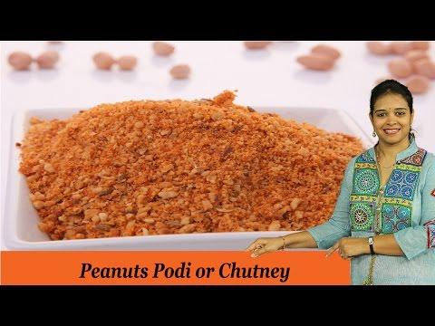 Peanuts Podi or Chutney - Mrs Vahchef