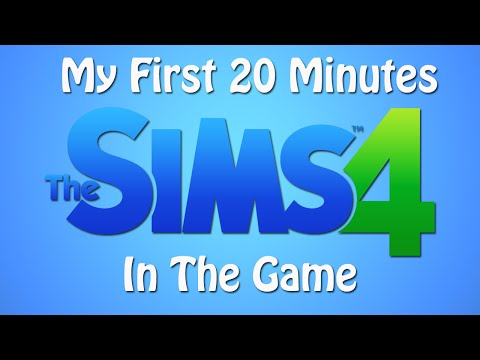 My First 20 Minutes In The Sims 4!!