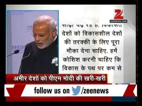 Paris summit: PM Modi pulls up rich nations on climate change