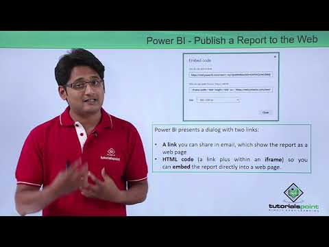 Power BI - Publish a report to the web from power BI