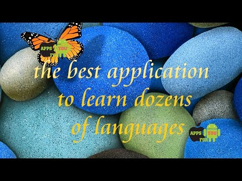 Best application to learn  English and dozens of languages : android & ios