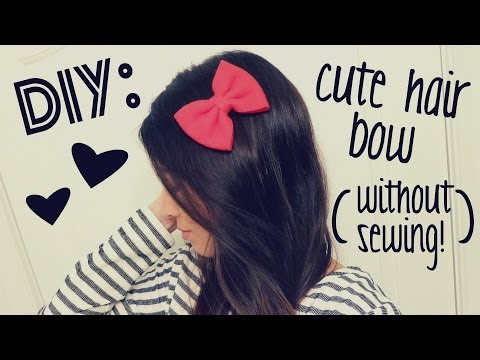 DIY: Cute Hair Bow (Without Sewing!)