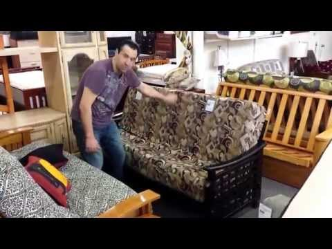 How to open and close a front loading futon frame
