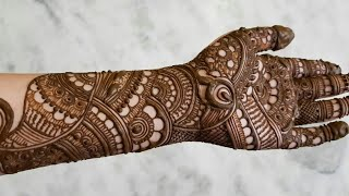 Indian bridal henna designs | Eid special henna design for hands 2017