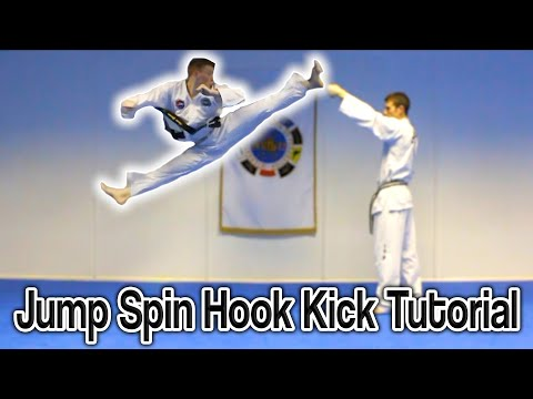 Taekwondo Jump Spin Hook Kick Tutorial | GNT How to