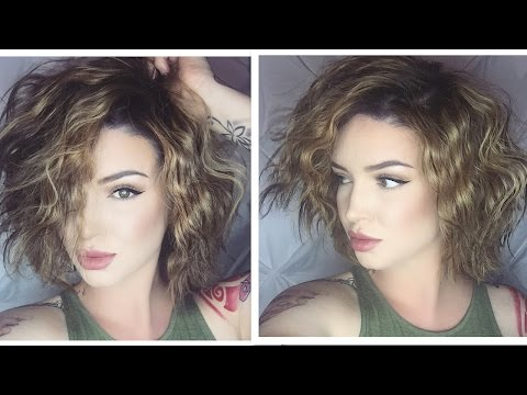 Chunky Beach Waves Long Bob | Hair tutorial ♡