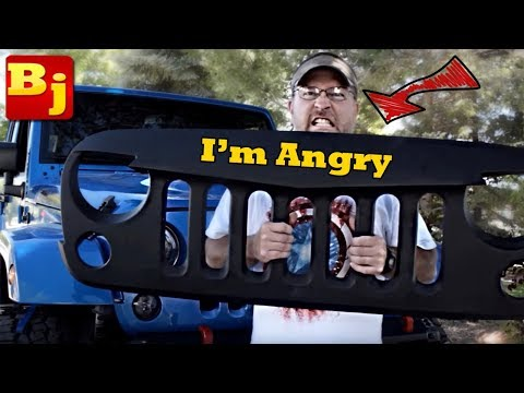 How to Install an ANGRY Grille on Your Jeep JK...Mall-Rated MADNESS!
