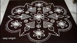 Sankranti Muggulu With 13x6 Middle Dots Kolam Designs With 13 Dots