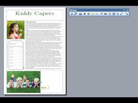 Resize and crop an image in Microsoft Publisher