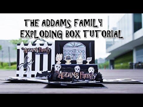EXPLODING BOX FULL TUTORIAL - THE ADDAMS FAMILY THEME