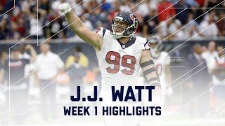 Jj Watt Highlights Bears Vs Texans Nfl Week 1 Player Highlights
