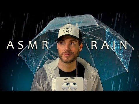 ASMR TINGLE RAIN – Umbrella Over the Mic. Spray Sounds. Tapping. Crinkles.