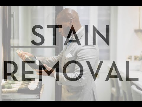 How To Remove Stains From Clothes - Menswear Fashion Tips