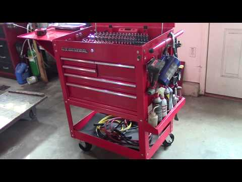 Harbor Freight's Tool Cart Review 30 in. 5 Drawer Mechanic's Cart