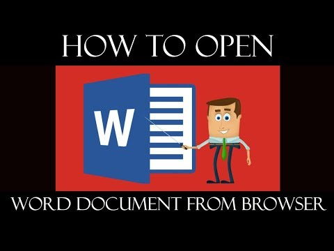 How to Open Word 2016 document from Browser