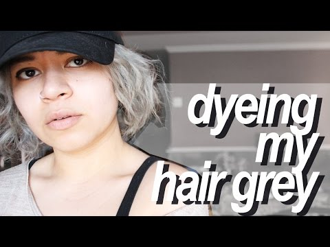 DYEING MY HAIR GREY WITH ADORE PLATINUM 150