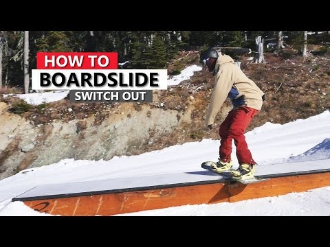 How To Back Boardslide to Switch Out - Snowboarding Tricks