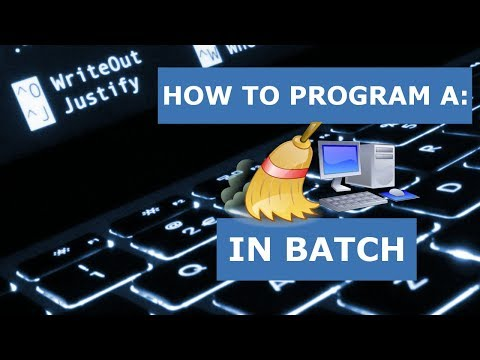 How to Program: A Computer Cleanup Tool in Batch