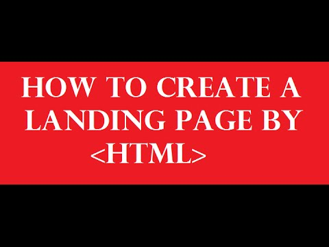 Web page design (Part- 16 ) [How to Create a landing page by html ]  (easy way)