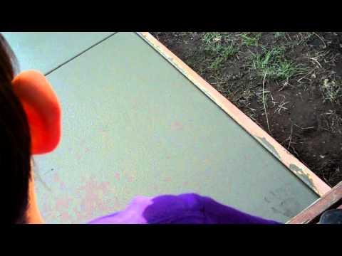 Making Handprint in Cement