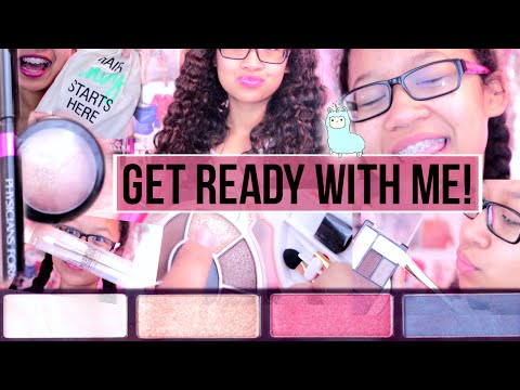 GET READY WITH ME!! || Hair, Makeup +Outfit♥
