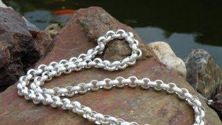 Jewellery making belcher chain Erbskette