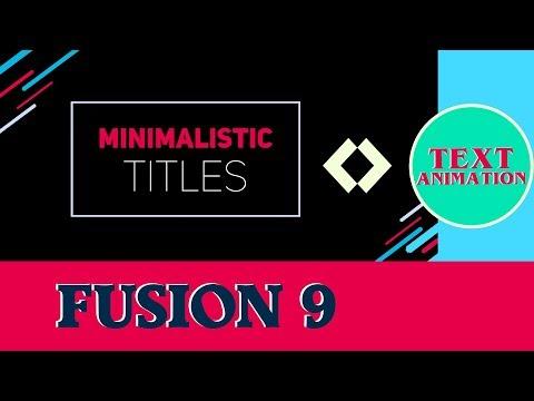 Fusion 9 Tutorial - Minimalistic Title Animation - Motion graphics #7